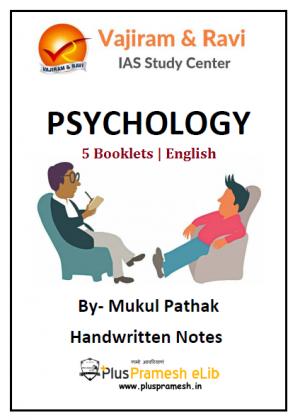 vajiram and ravi psychology notes by mukul Pathak