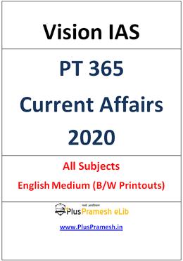 Vision IAS PT 365 2020 Current Affairs