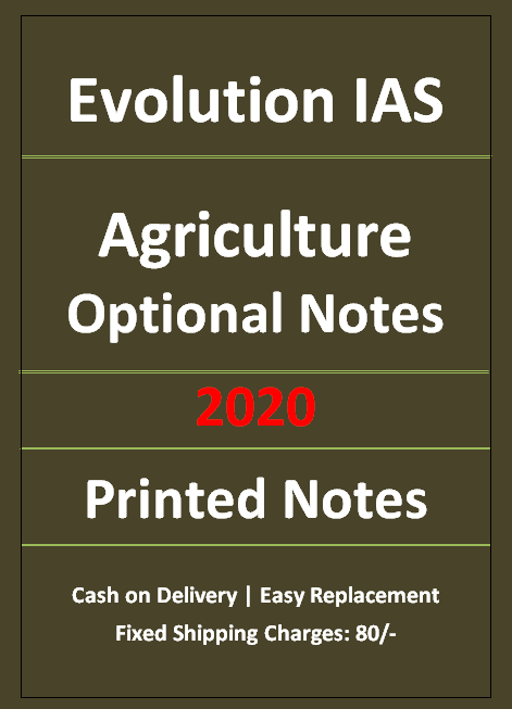 Evolution IAS Agriculture Notes 2021