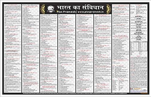 Bharat Ka Samvidhan Wall Chart (Constitution of India) in Hindi [Laminated] [2 X 3 Feet]