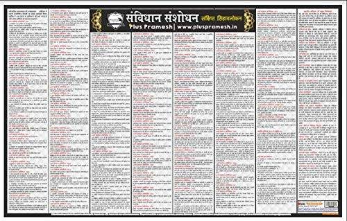 Samvidhan Sanshodhan Wall Chart (Constitutional Amendment in India) [Laminated] [2 X 3 Feet]
