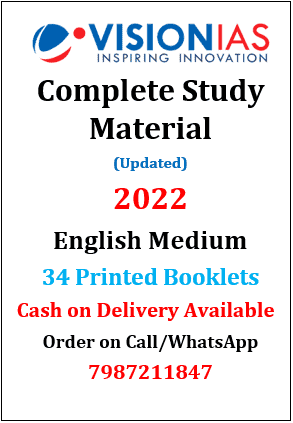 Vision IAS Complete Study Material in English 2022