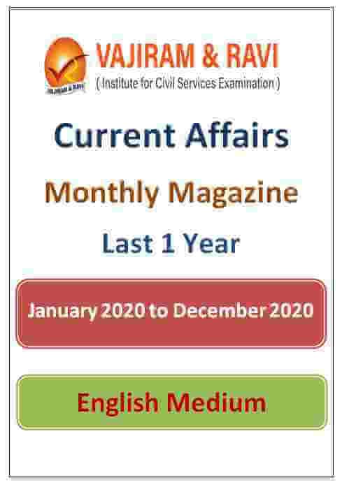 Vajiram and Ravi Monthly Current Affairs Magazine