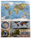 WORLD PHYSICAL MAP Size 28×22 inch in English